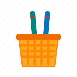 element, holder, object, office, paper, pen, pencil icon