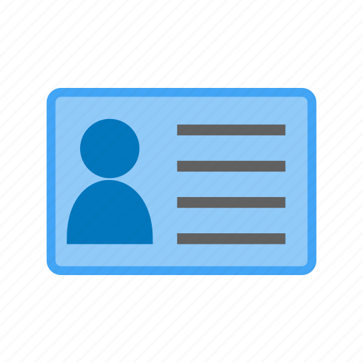 account holder, card, id card, identification, identity, member, user icon