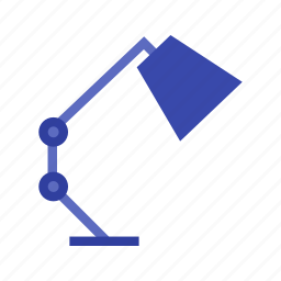computer, desk, furniture, lamp, office, table, top icon