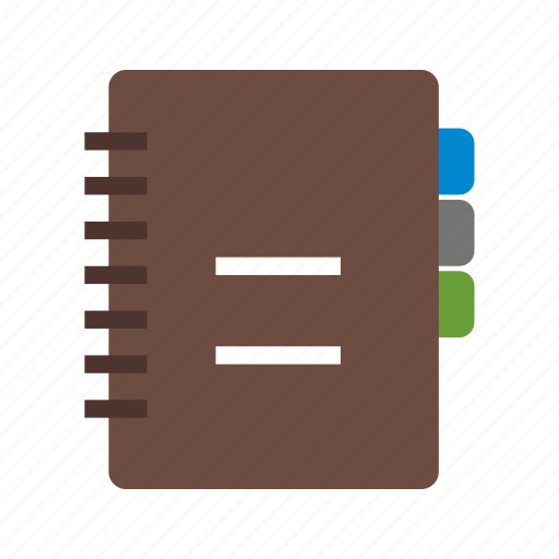 book, business, cover, diary, notebook, pad, paper icon