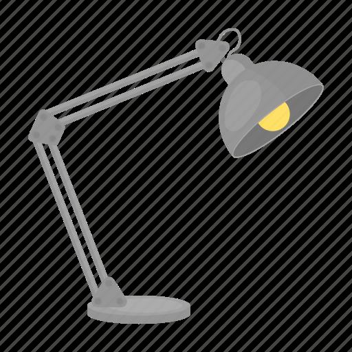 equipment, interior, lamp, light, office, table lamp icon