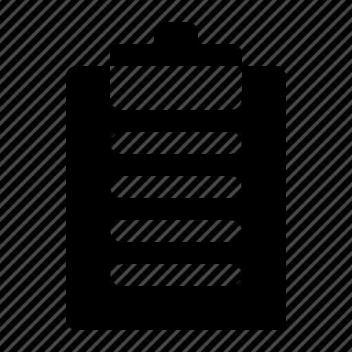 clipboard, document, file, list, paper icon