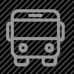 autobus, bus, car icon