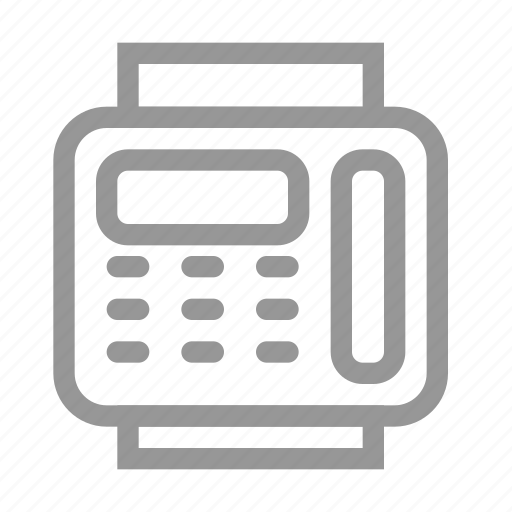 device, fax, office, phone icon