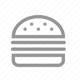 dinner, eating, food, hamburger icon