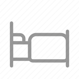 bed, bedroom, hotel, house icon