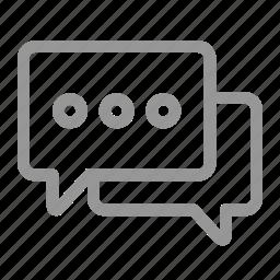comment, message, negotiate, talk icon