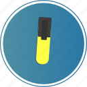 document, file, marker, read, yellow icon