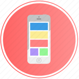 communication, device, internet, ios, iphone, mobile, phone icon