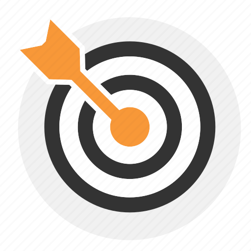 bullseye, center, office icon