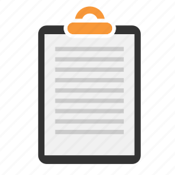 clipboard, document, file, page, paper, sheet, text icon
