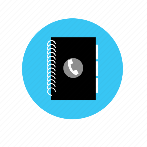1, book, directory, document icon