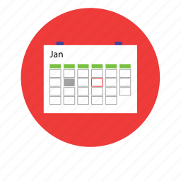 appointment, calendar, clock, date, day, month, timetable icon