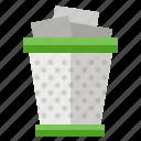 bin, office, rubbish, trash