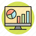 analytics, business growth, report, screen, statistics icon