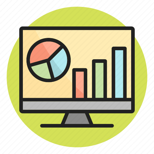 analytics, business growth, report, screen, statistics icon