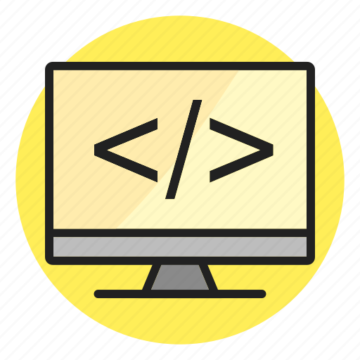 coding, device, display, html, lcd icon, screen icon