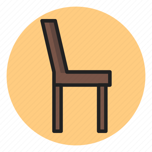 chair, furniture, household, households, interior, seat icon