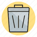 delete, dustbin, trash icon