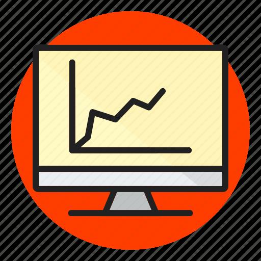 diagram, display icon, graph, report, screen, statistics icon