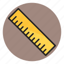 geometry, measure, measurement, ruler, scale icon
