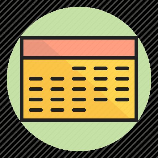 calendar, date, plan, schedule, schedule icon icon
