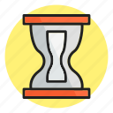 find, glass, hourglass, loading, sandglass, timer icon icon