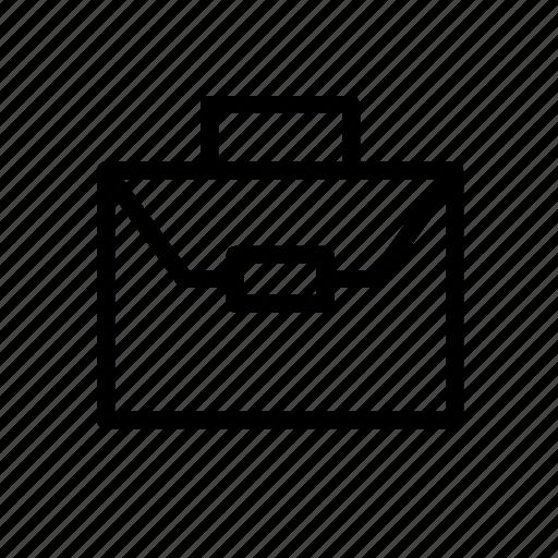 bag, business, koper, office, outline, work bag icon