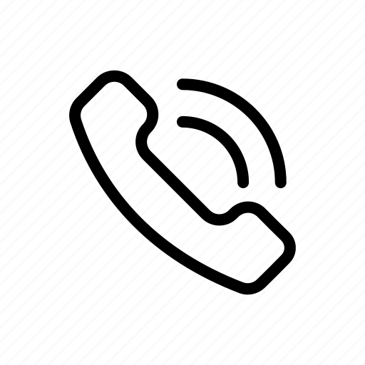 call, office, outline, phone, telephone icon