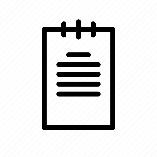 attachment, document, office, outline, paper icon
