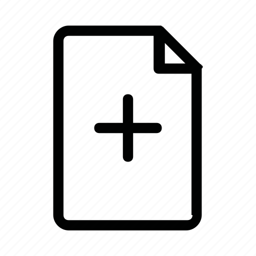 doc, file, new, page, plus icon