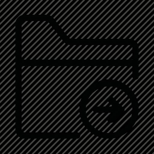 arrow, data, file, folder, next icon