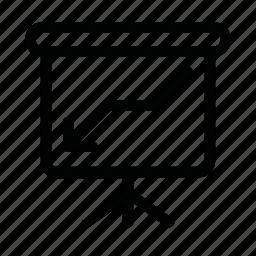 arrow, board, chart, down icon
