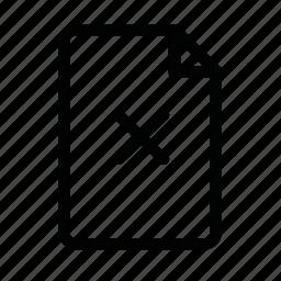 close, closed, cross, doc, file, page icon