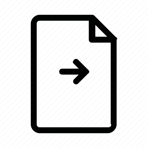 arrow, document, file, page, right icon