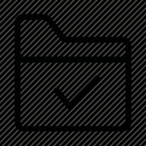 check, data, document, file, folder, ok icon