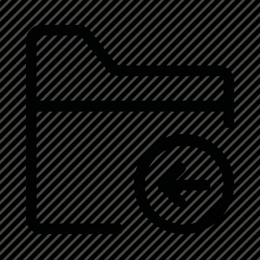 arrow, data, document, file, folder, less icon