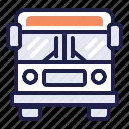 bus, bus stop, city bus, commute, muni, travel icon