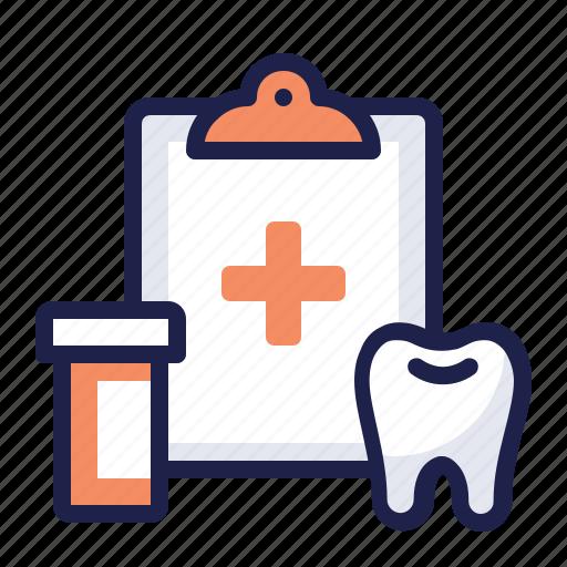 clipboard, dental, drug, health, insurance, medical, prescription icon