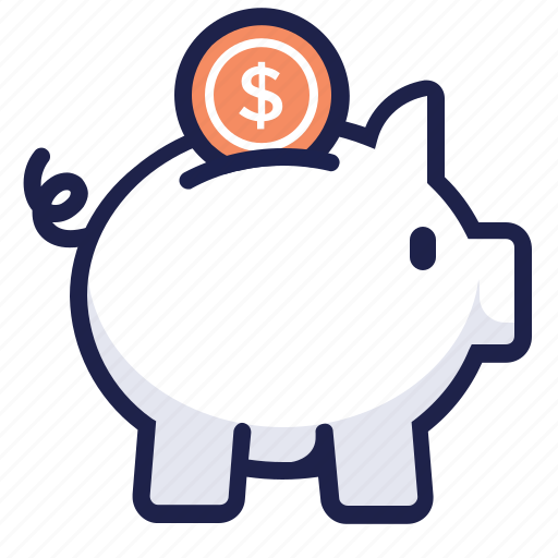 bank, coin, money, piggy, save, savings icon