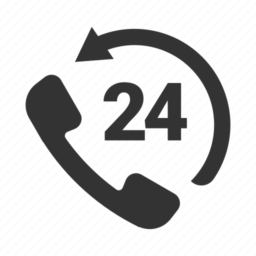 24 hour, advice, help, productivity, support, telephone icon