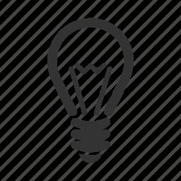 brainstorming, bright idea, bulb, genius, light, productivity icon