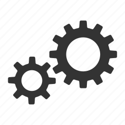 cogs, configuration, gears, productivity, settings, system icon
