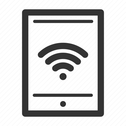 connectivity, network, online, productivity, tablet, wireless icon