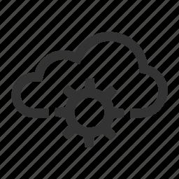 cloud, internet, productivity, settings, storage icon