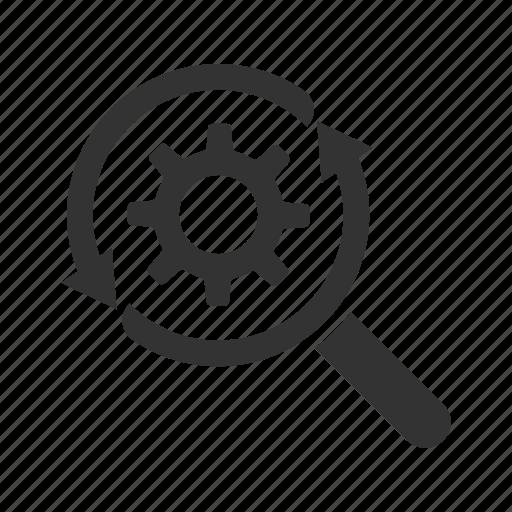 discover, explore, optimization, productivity, search, settings icon