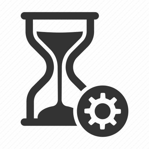 delay, hour glass, on hold, productivity, settings, time icon