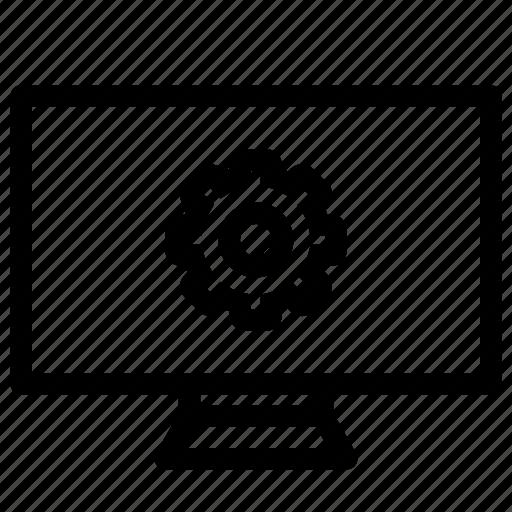 cog, desktop, monitor, organize, preset icon
