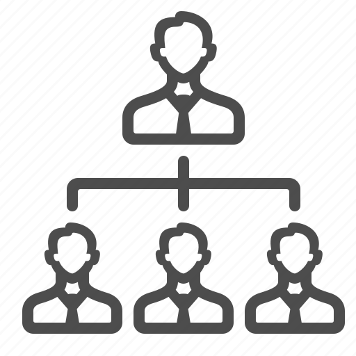 boss, businessman, corporation, hierarchy, job, leader, team icon