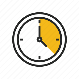 clock, deadline, hour, time, timer, watch icon